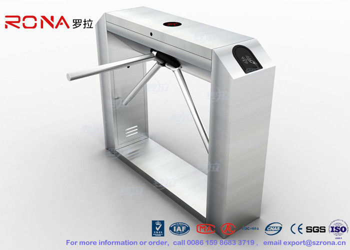 304 Stainless Steel Tripod Turnstile Gate , RFID Flap Barrier Turnstile Attendance