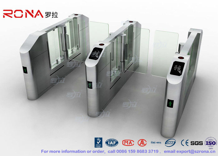 Vistor Management System Speed Gate Turnstile with Stainless Steel Used at Governmental Building