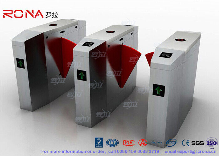 Heavy Duty Flap Barrier Gate Half Height Turnstile Turnstile Entrance Gates Indoor / Outdoor