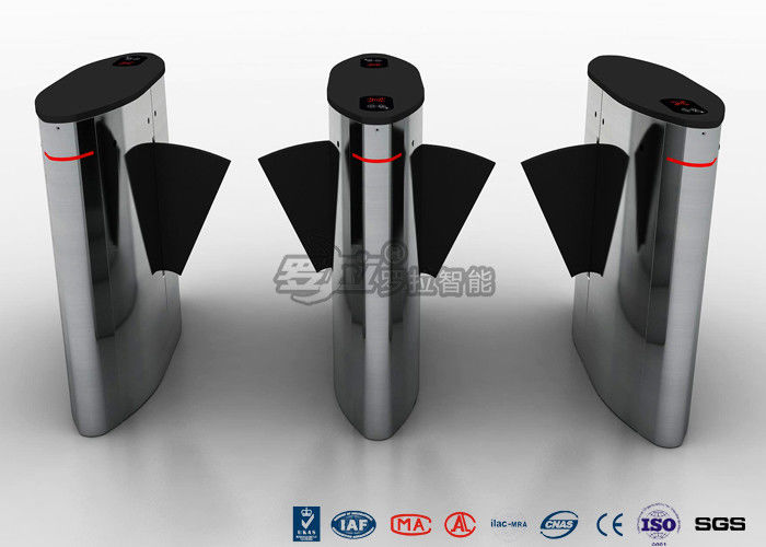 Security Barrier Gate Fast Speed Turnstile , Full Automatic Wing Barrier for Intelligent Building