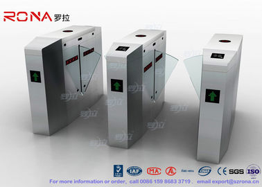 Outdoor / Indoor Flap Barrier Gate Entrance Turnstiles Removable HID 13.56mhz RFID Reader